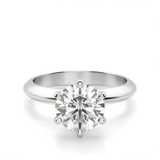 Классическое кольцо с бриллиантом