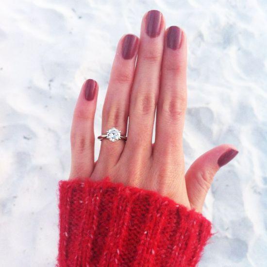 Классическое кольцо с бриллиантом,  Больше Изображение 5