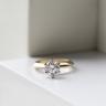 Кольцо с бриллиантом 0.55 кт из желтого золота 750 пробы, Изображение 4