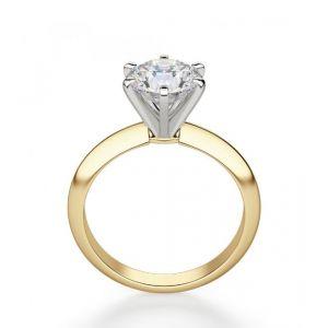 Кольцо с бриллиантом 0.55 кт из желтого золота 750 пробы - Фото 1