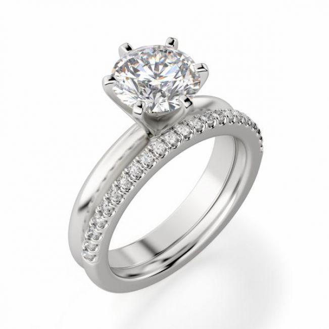 Классическое кольцо с круглым бриллиантом 0.40 карата
