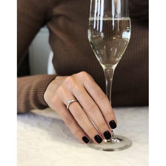 Кольцо с бриллиантом из желтого золота,  Больше Изображение 4