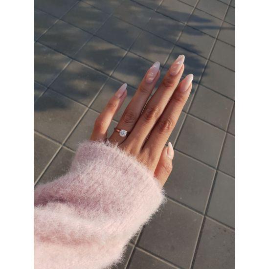 Классическое кольцо с 1 бриллиантом на помолвку,  Больше Изображение 6
