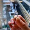 Кольцо с квадратным бриллиантом огранки «принцесса» | 1002, Изображение 2
