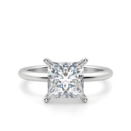 Кольцо с бриллиантом Принцесса, Больше Изображение 1