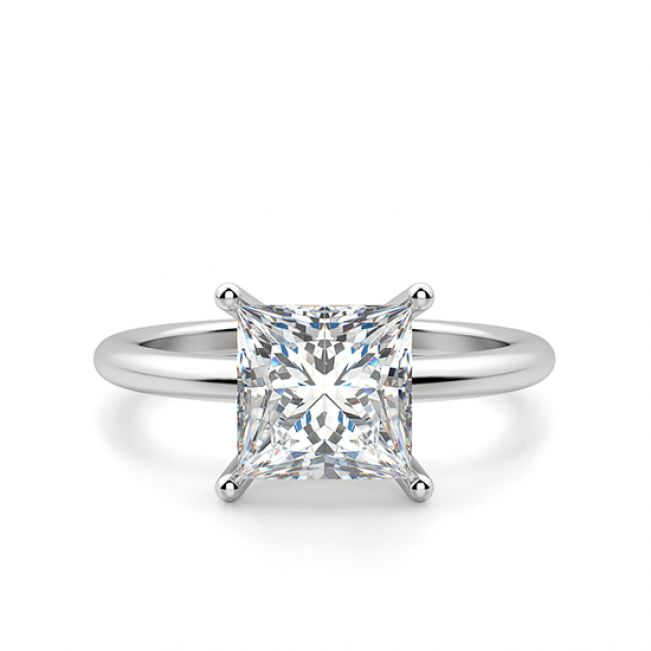 Кольцо с бриллиантом Принцесса 0.41 карата