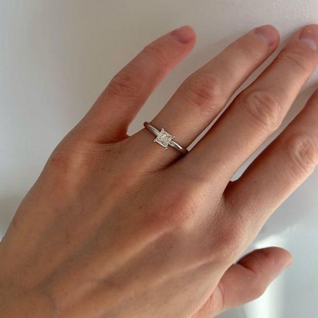 Кольцо с бриллиантом Принцесса 0.51 карат