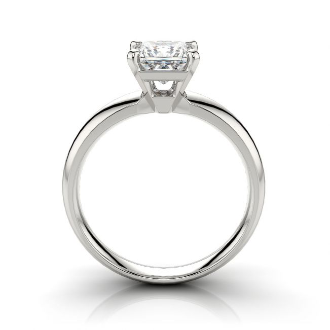 Кольцо с бриллиантом Принцесса 0.41 карата - Фото 1