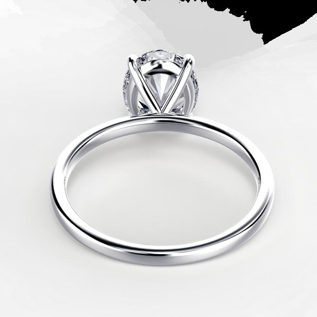 Кольцо с овальным бриллиантом - Фото 3