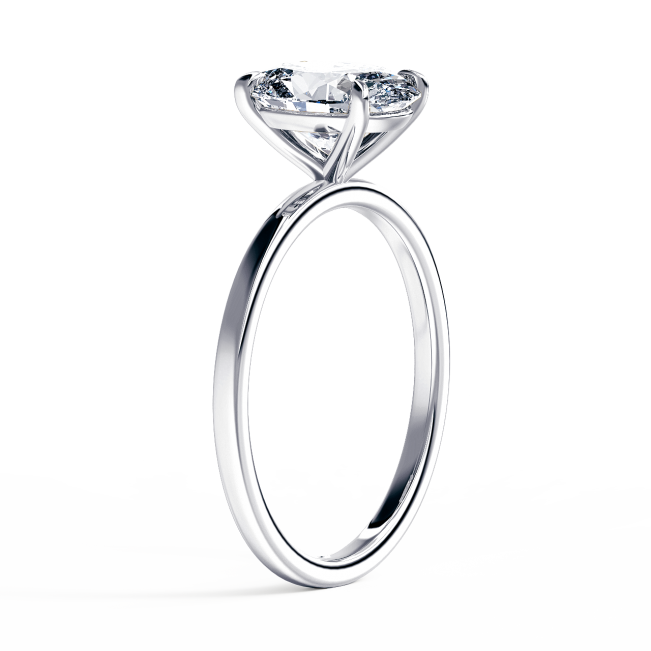 Кольцо с овальным бриллиантом - Фото 1