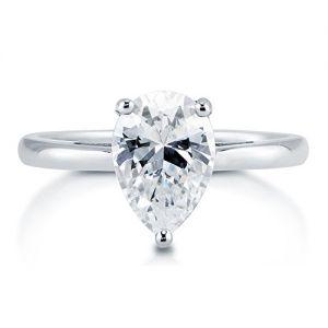 Кольцо с бриллиантом Груша