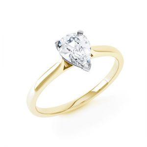 Кольцо с бриллиантом Груша из золота