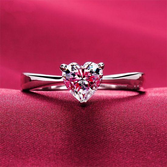 Кольцо с бриллиантом Сердце,  Больше Изображение 5