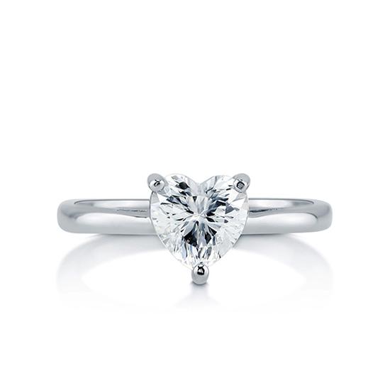 Кольцо с бриллиантом Сердце, Больше Изображение 1