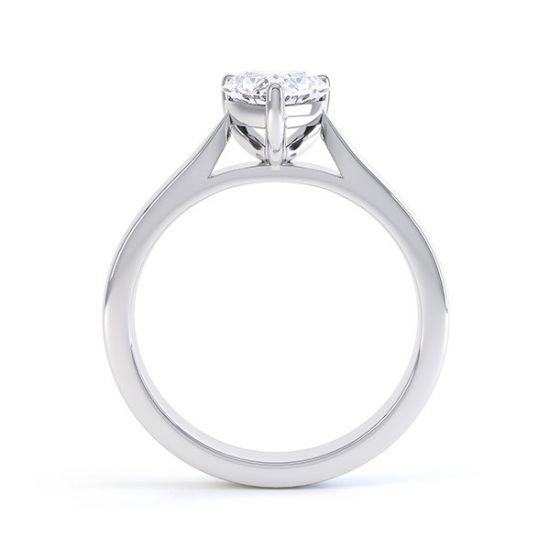 Кольцо с бриллиантом Сердце,  Больше Изображение 3