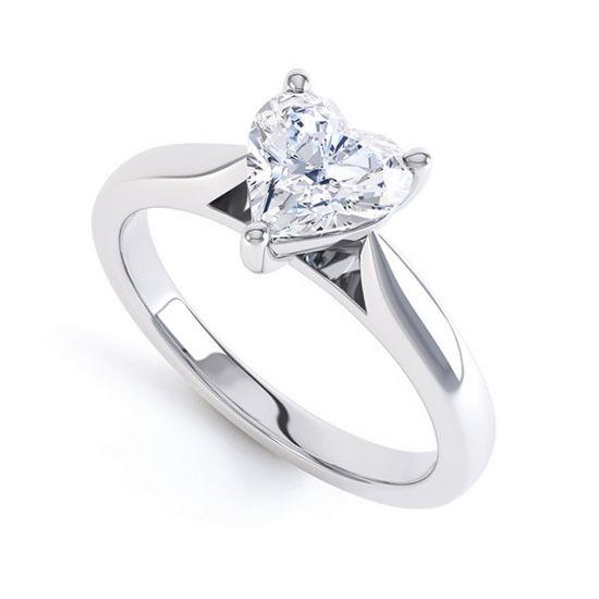 Кольцо с бриллиантом Сердце,  Больше Изображение 2