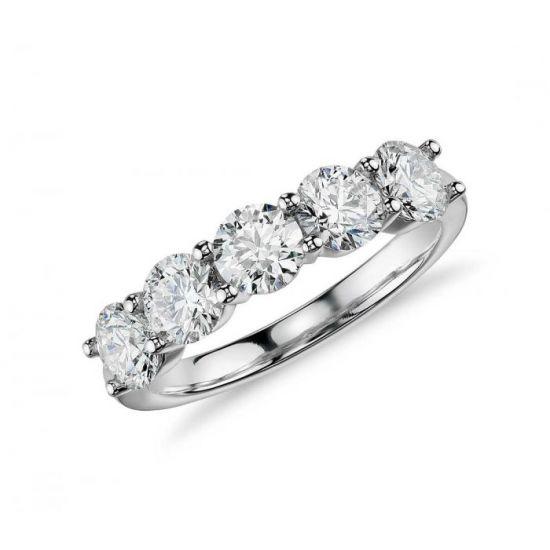 Кольцо с 5 бриллиантами,  Больше Изображение 2