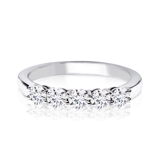 Кольцо с 5 бриллиантами,  Больше Изображение 3