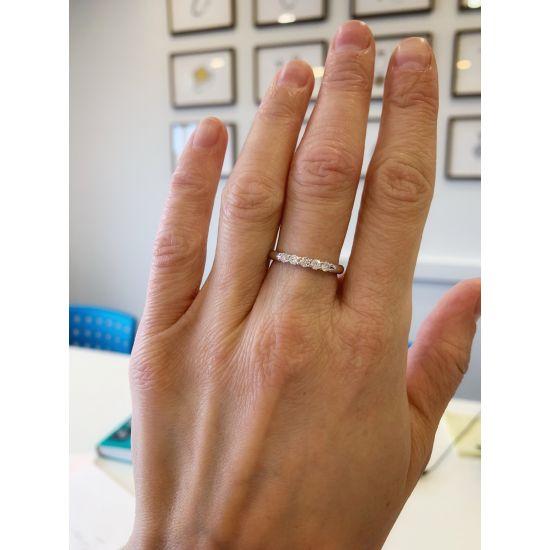 Кольцо с 5 бриллиантами из желтого золота,  Больше Изображение 3
