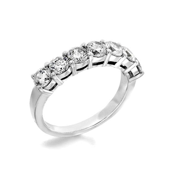 Кольцо дорожка с 7 бриллиантами, Больше Изображение 1