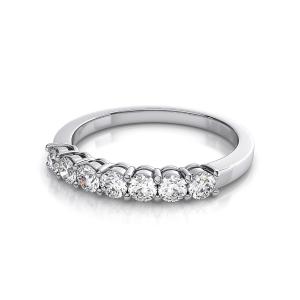 Кольцо дорожка с 7 бриллиантами