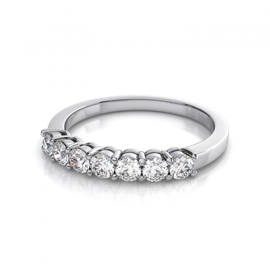 Кольцо дорожка с 7 бриллиантами,  Больше Изображение 4
