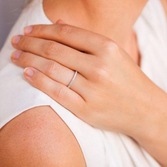 Кольцо дорожка с бриллиантами,  Больше Изображение 7