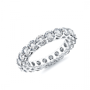 Кольцо дорожка 3 мм с бриллиантами по кругу