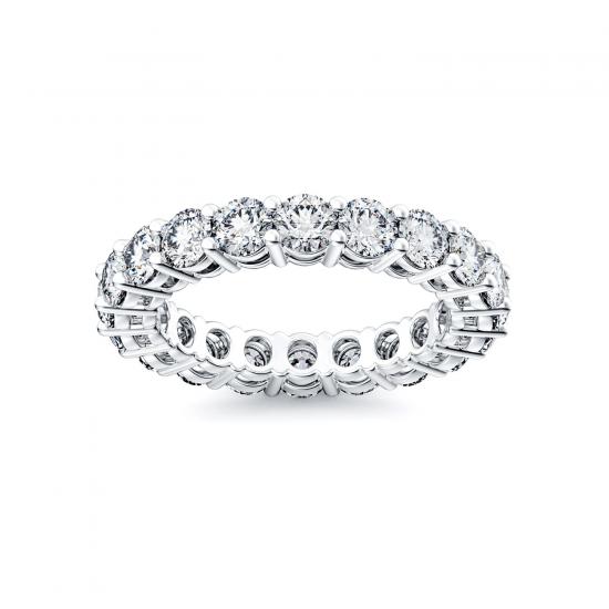Кольцо дорожка с бриллиантами 3 мм,  Больше Изображение 2