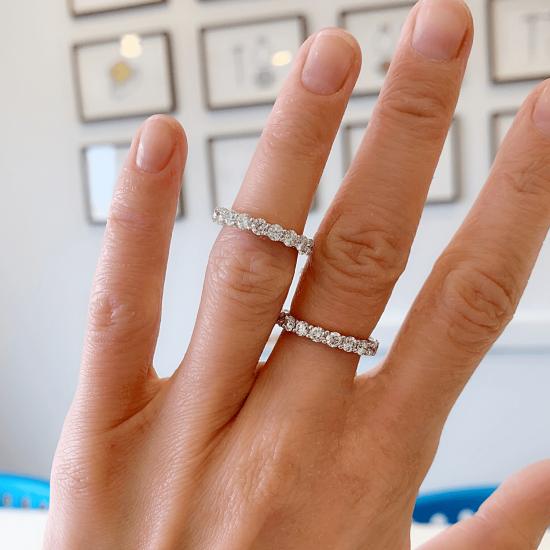 Кольцо дорожка с бриллиантами 3 мм,  Больше Изображение 4