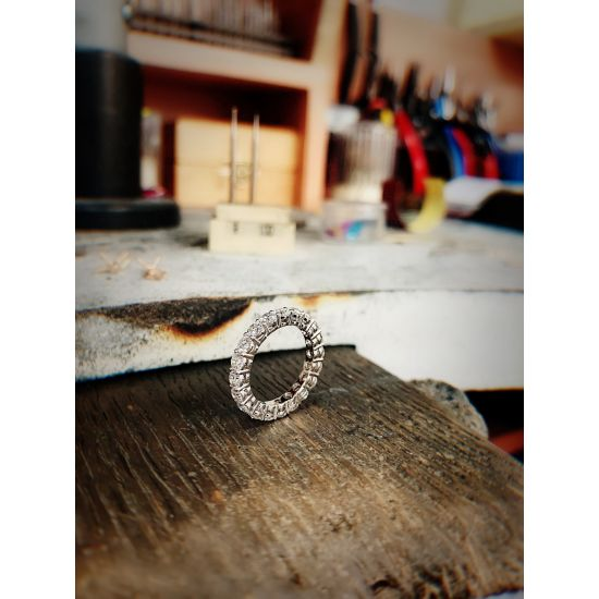 Кольцо дорожка с бриллиантами 3 мм,  Больше Изображение 6