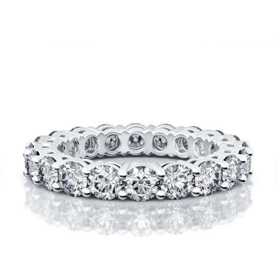 Кольцо дорожка с бриллиантами 3 мм,  Больше Изображение 3