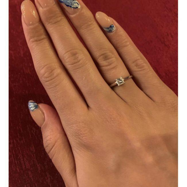 Кольцо с бриллиантом Принцесса - Фото 5