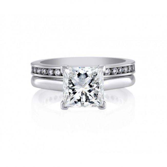 Кольцо с бриллиантом Принцесса - Фото 3