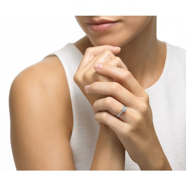 Кольцо с бриллиантом Принцесса - Фото 4