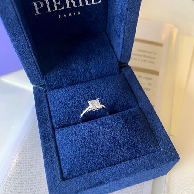 Кольцо с бриллиантом Принцесса - Фото 6