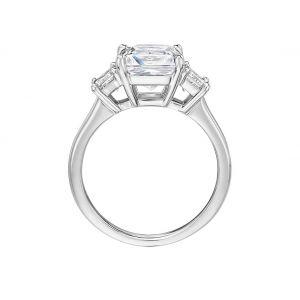 Кольцо с 3 бриллиантом Принцесса