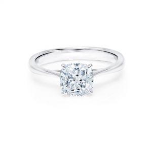 Кольцо с 1 бриллиантом огранки кушон - Фото 1