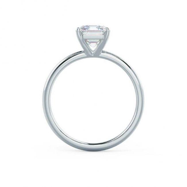 Кольцо с бриллиантом огранки ашер 1 карат - Фото 1