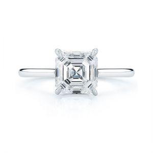 Кольцо с бриллиантом огранки ашер