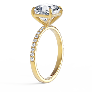 Кольцо с бриллиантом Ашер 1 карат из золота - Фото 1