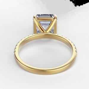 Кольцо с бриллиантом Ашер 1 карат из золота - Фото 2