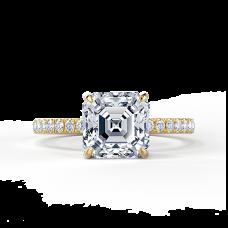 Кольцо с бриллиантом Ашер из золота