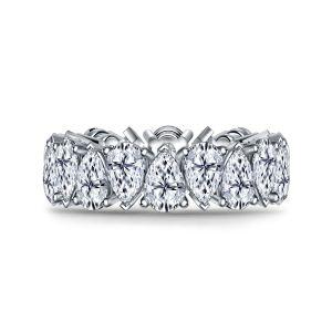 Кольцо дорожка с бриллиантами 9 кт