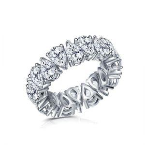 Кольцо дорожка с бриллиантами огранки груша весом 9 кт