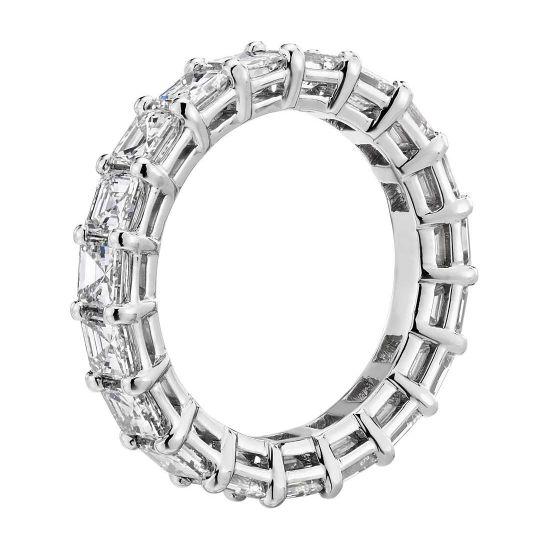 Кольцо дорожка с бриллиантами Ашер 4 карата,  Больше Изображение 2