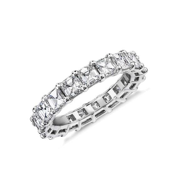Кольцо дорожка с бриллиантами Ашер 4 карата, Больше Изображение 1