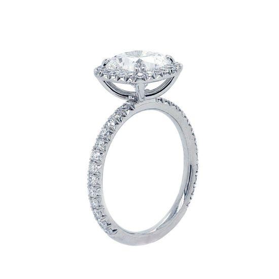 Кольцо с бриллиантом кушон в стиле малинка,  Больше Изображение 2