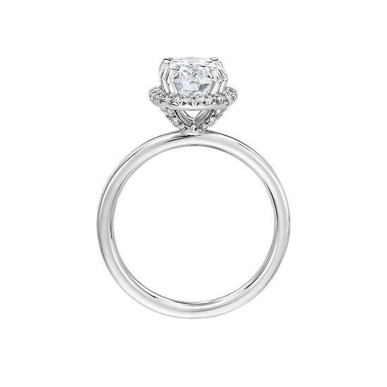Кольцо малинка с овальным бриллиантом,  Больше Изображение 2