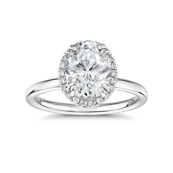 Кольцо малинка с овальным бриллиантом, Больше Изображение 1